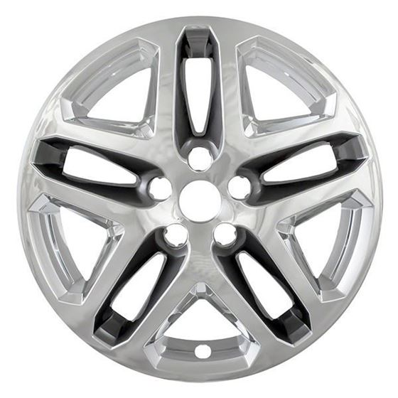 Wheel Skins For Ford Fusion 13 16 17 Charcoal Chrome Iwcimp372cc